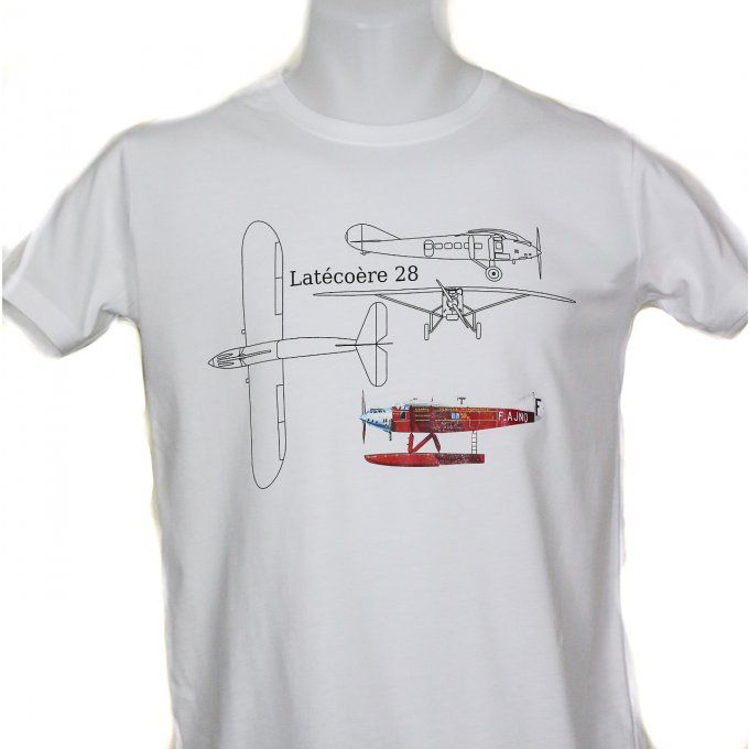 Tee shirt blanc Homme, Plan Laté 28, 100% coton, made in Portugal